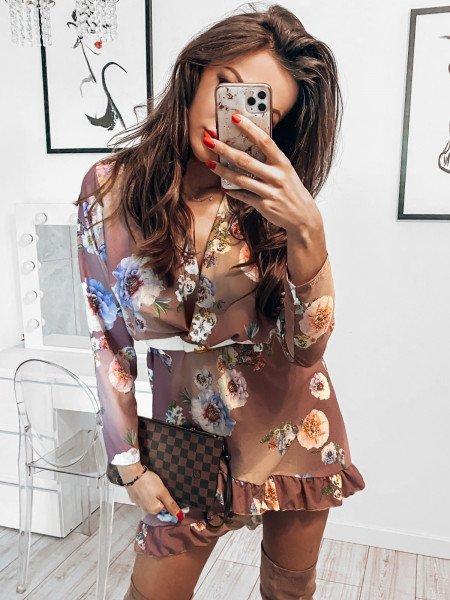 Sukienka z przekładanym...