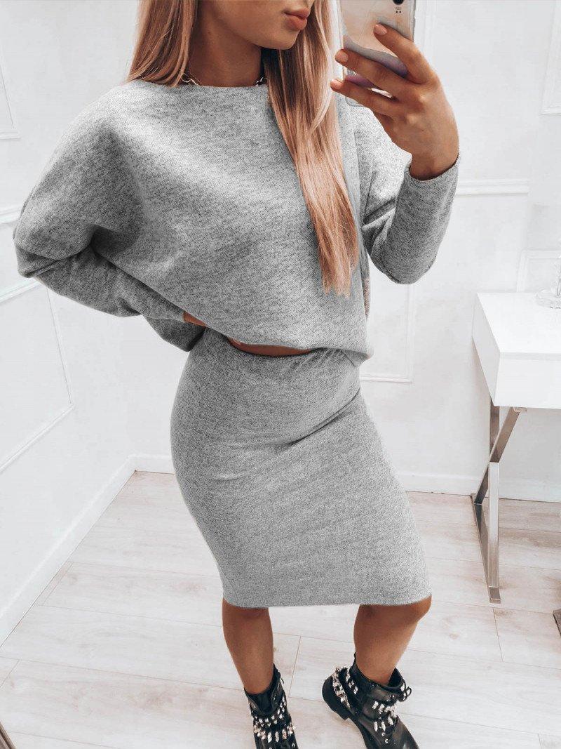 Komplet damski bluzka + spódnica...