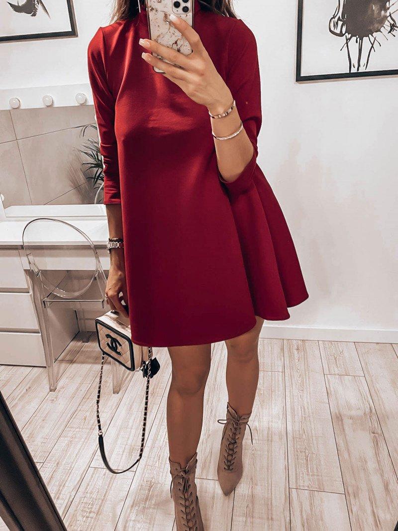 Trapezowa sukienka z półgolfem AZIZA...
