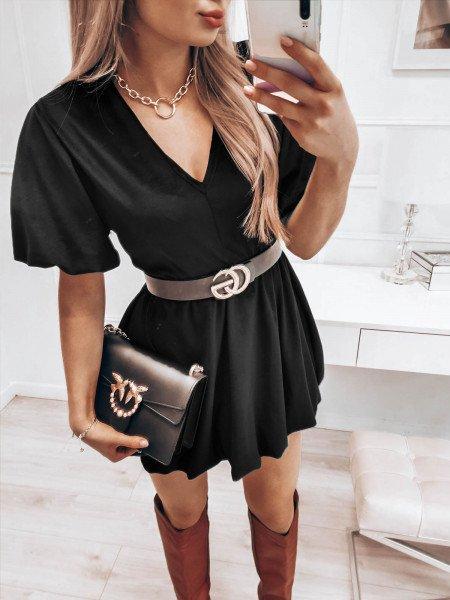 Kobieca welurowa sukienka...