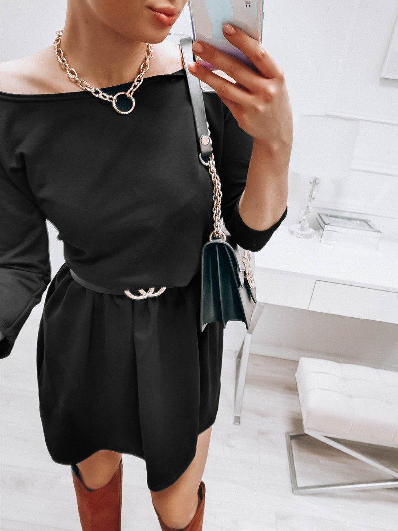 Rozkloszowana dresowa sukienka...