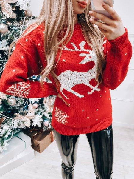 Świąteczny sweter RUDOLF -...