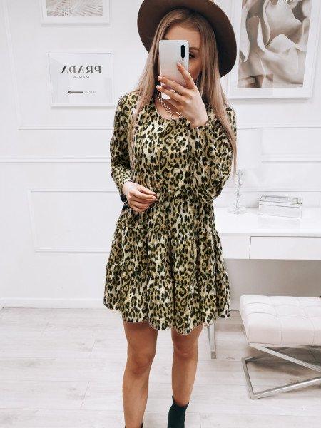 Trapezowa sukienka w print...