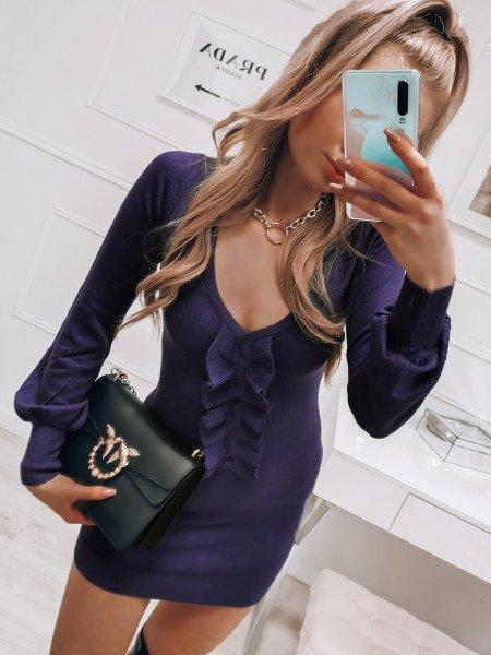 Sweterkowa mini sukienka...