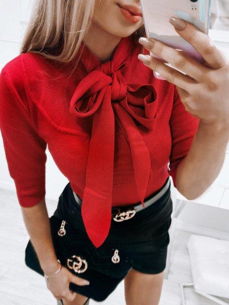 Sweterek z kokardką LARA -...