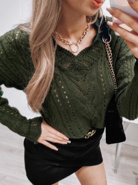 Ażurowy sweterek oversize -...