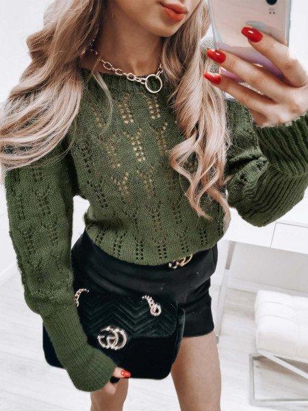 Ażurowy sweterek ADELINA -...