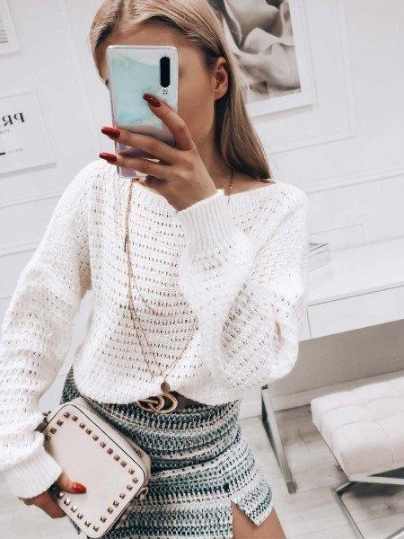 Ażurowy sweterek CORNELIA -...