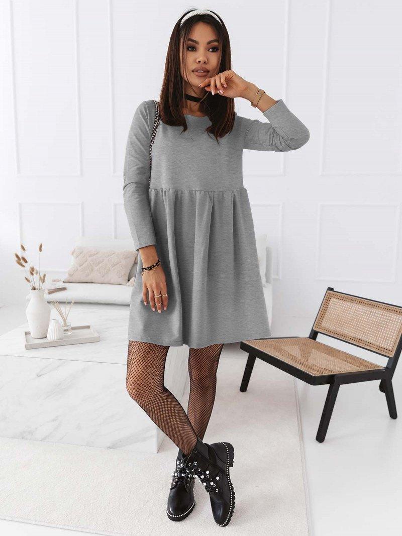 Trapezowa sukienka MANOLA - szara