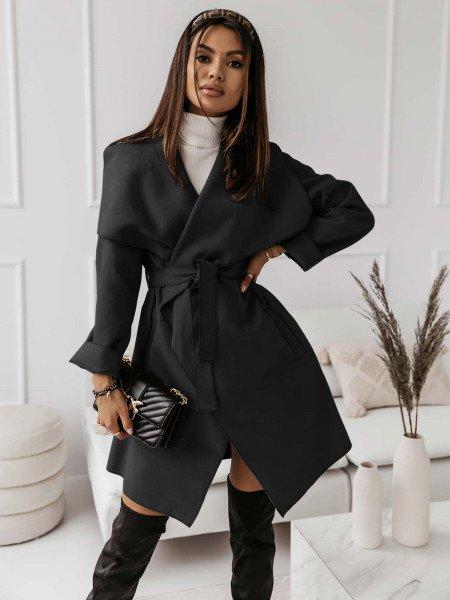 Flauszowy płaszcz CAMILLE -...