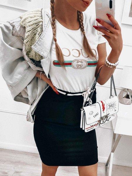 Dresowa mini spódnica TRACY - czerń