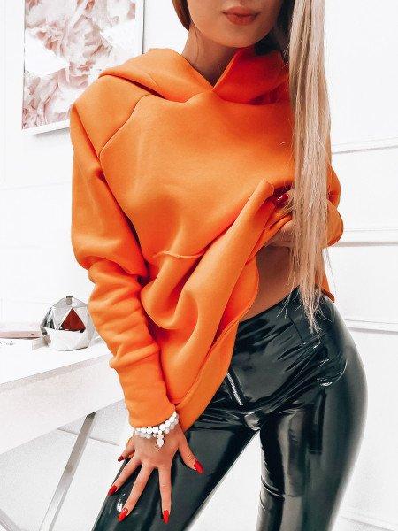 Oversizowa bluza z kapturem ABIGAIL - orange