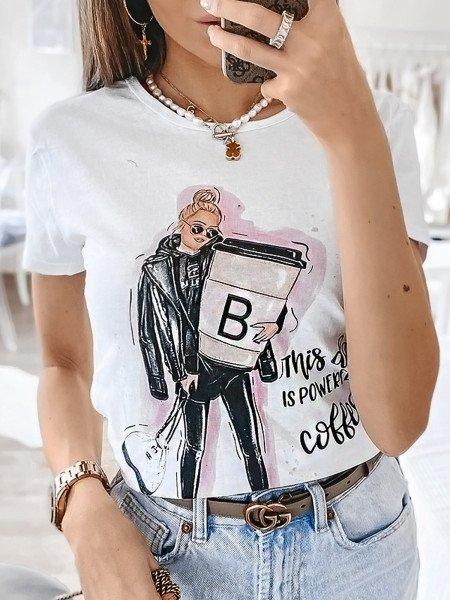 T-shirt COFFEE - wzór 8