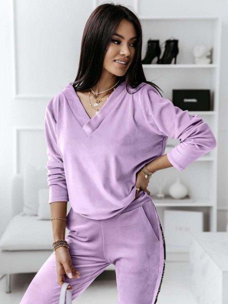 Komplet sportowy spodnie + bluza Serena- lila