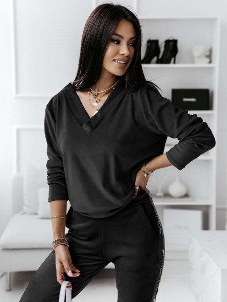 Komplet sportowy spodnie + bluza Serena- czerń