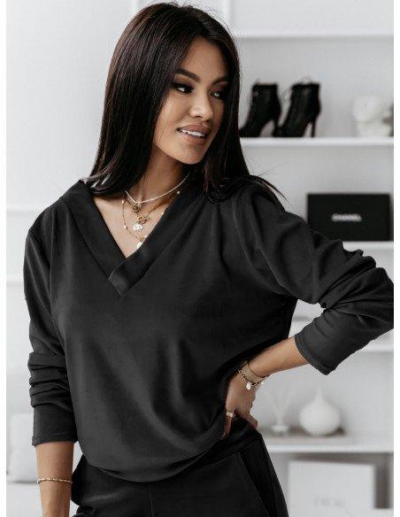 Dresowa bluza z dekoltem na plecach Nanga - czarna