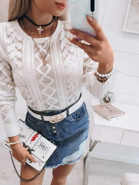 Jeansowa mini spódnica...